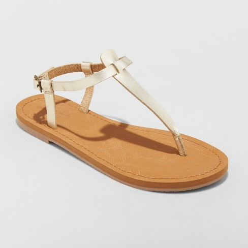 212ea66e7 Women s Hartley T Strap Thong Sandals - Universal Thread™ Gold 7 ...