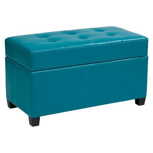 Metro Ottoman Blue - Office Star - image 1 of 1