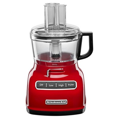 KitchenAid 7 Cup Food Processor with ExactSlice™ System Red - KFP0722
