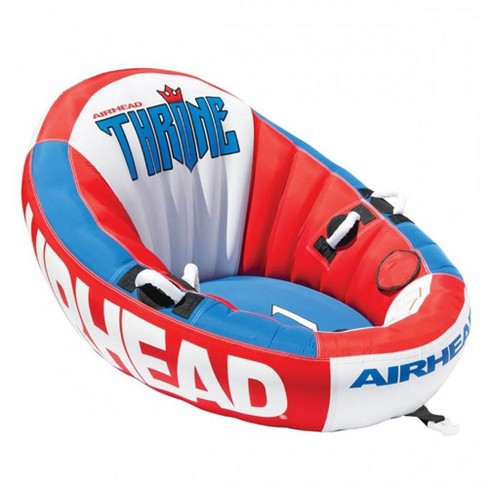 Airhead Inflatable Throne 1 Rider Sofa Design Lounging Lake Towable | AHTN-1 - image 1 of 4