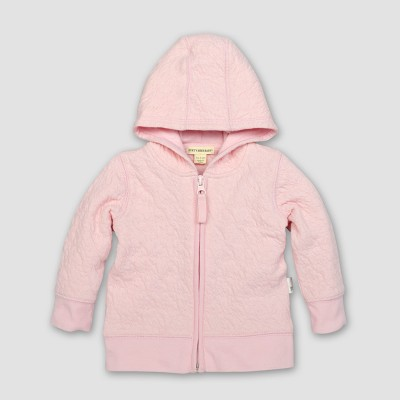 Burt's Bees Baby® Girls' Organic Cotton Quilted Jacket - Blossom 0-3M