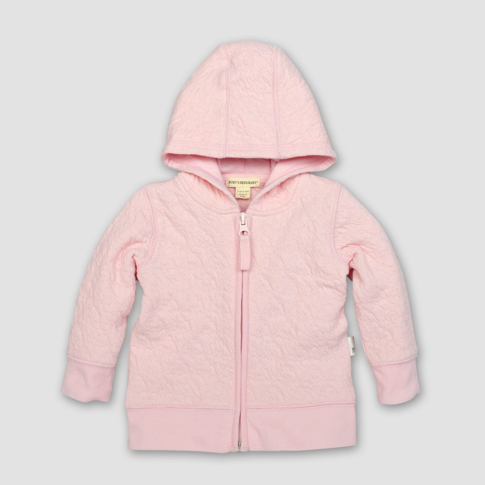 Burt's Bees Baby Girls' Organic Cotton Quilted Bee Jacket - Blossom 24M, Pink