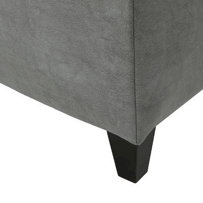Lucinda Faux Leather Storage Ottoman Bench - Christopher Knight Home : Target