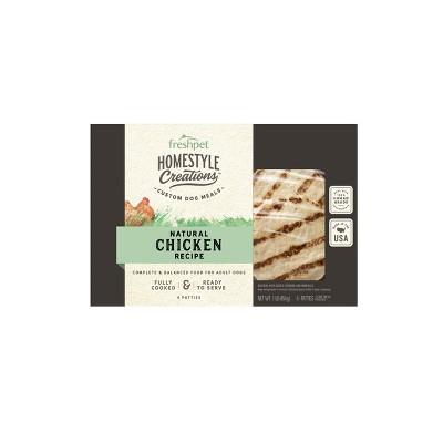 Freshpet Homestyle Creations Chicken Recipe Patties Refrigerated Wet Dog Food - 1lb