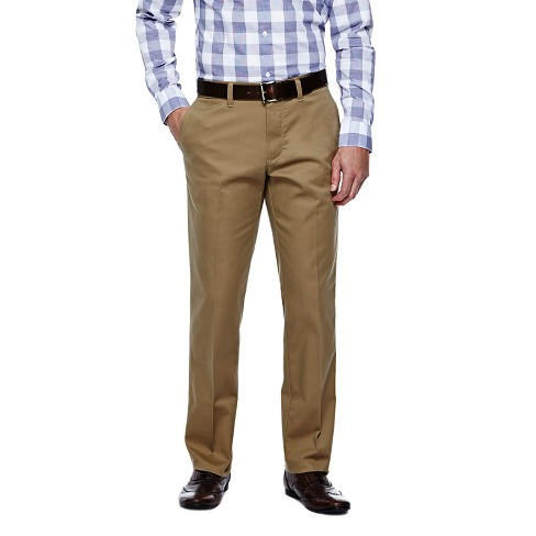 Haggar H26 - Men's Straight Fit No Iron Pants British Khaki 32X30 - image 1 of 2