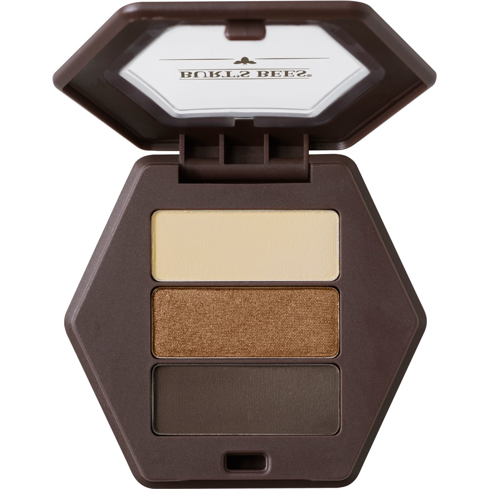 Burt's Bees 100% Natural Eye Shadow Palette with 3 Shades - Dusky Woods - 0.12oz, Brown