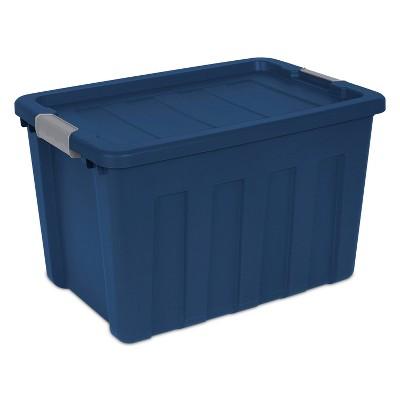 Sterilite® Ultra™ 100 Qt./25 Gal. Lidded Storage Bin   Blue