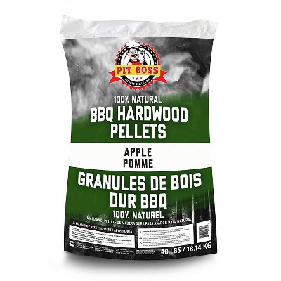 Pit Boss 55433 40 Pound Package BBQ Wood Pellets for Pellet Grill, Apple Flavor
