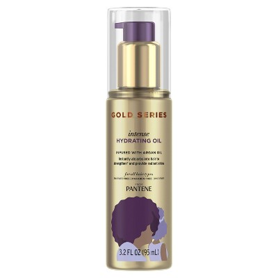 Gold Series from Pantene Sulfate-Free Intense Hydrating Oil Treatment for Curly & Coily Hair - 3.2 fl oz