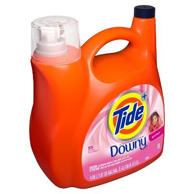 Tide Plus A Touch of Downy April Fresh Liquid Laundry Detergent - 138 fl oz