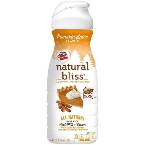 Coffee Mate Natural Bliss Pumpkin Spice Coffee Creamer 16 Fl Oz