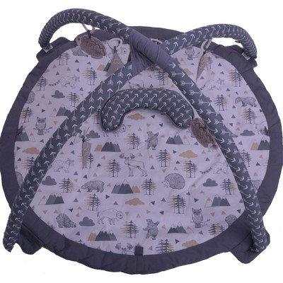 Bacati - Baby Activity Gyms & Playmats (Woodlands Beige/Grey)