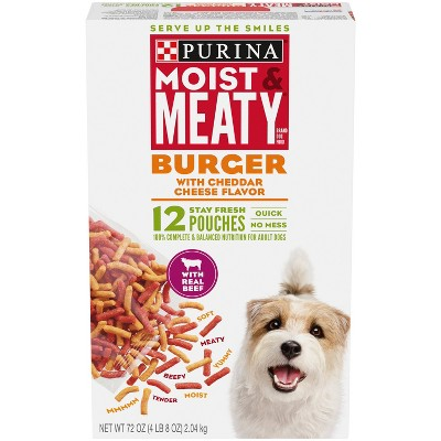 Moist & Meaty Burger with Cheddar Cheese Dry Dog Food