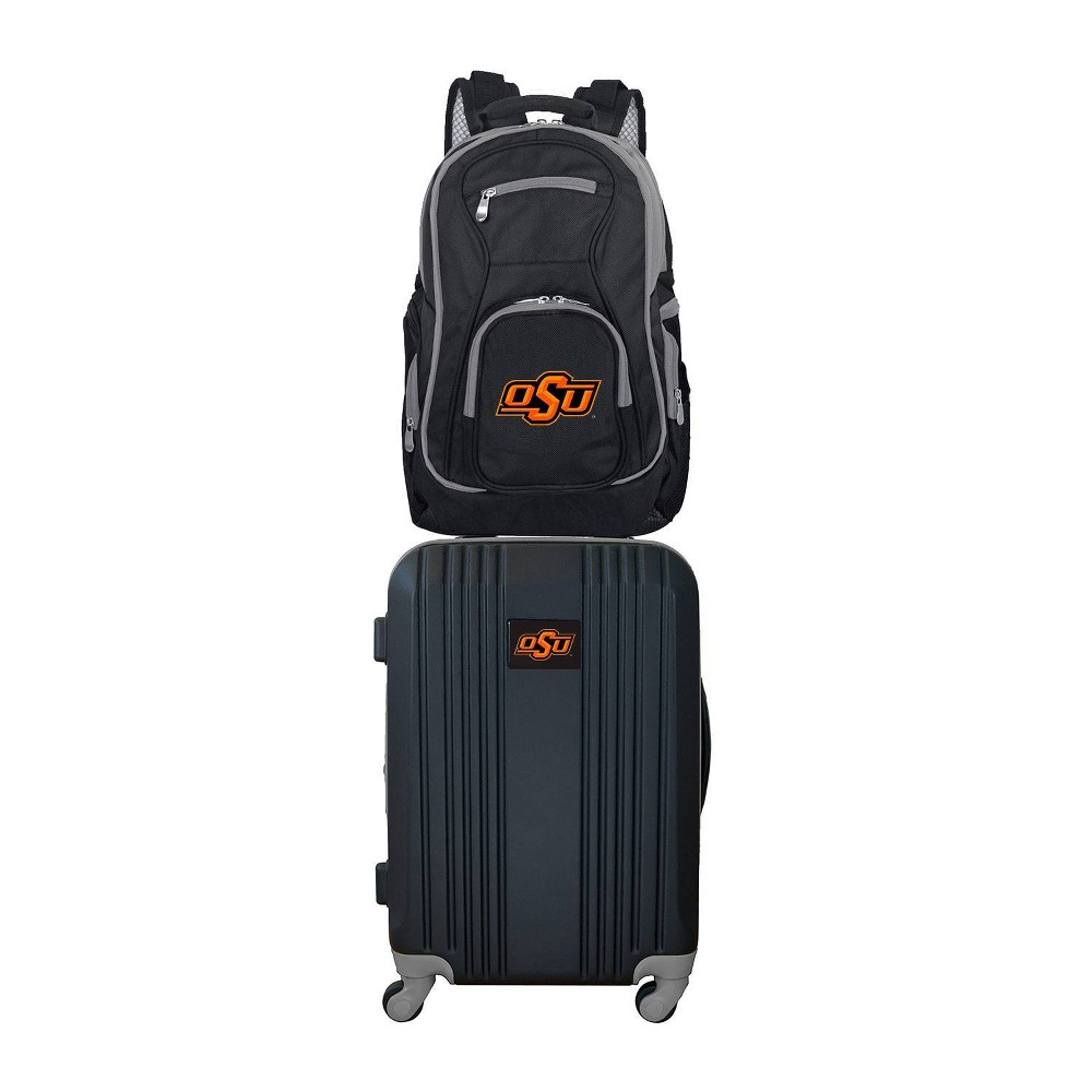 NCAA Oklahoma State Cowboys Premium 2pc Backpack & Carry-On Luggage Set