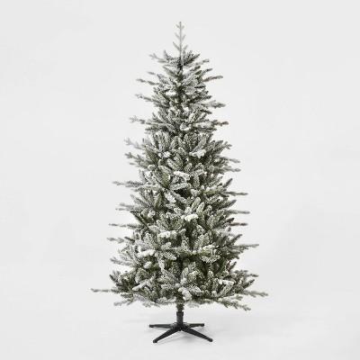 7ft Unlit Artificial Christmas Tree Flocked Balsam Fir - Wondershop™
