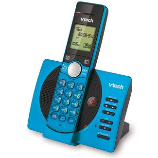 VTech® CS6929-15 DECT 6.0 Expandable Cordless Phone System with Answering Machine, 1 Handset - Blue