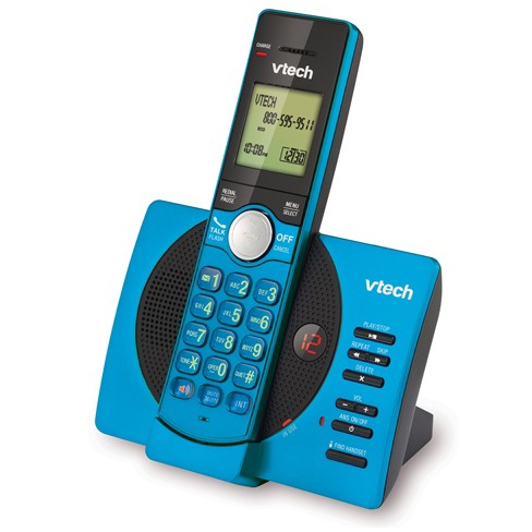 VTech CS6929-15 DECT 6.0 Expandable Cordless Phone System with Answering Machine, 1 Handset - Blue - image 1 of 3