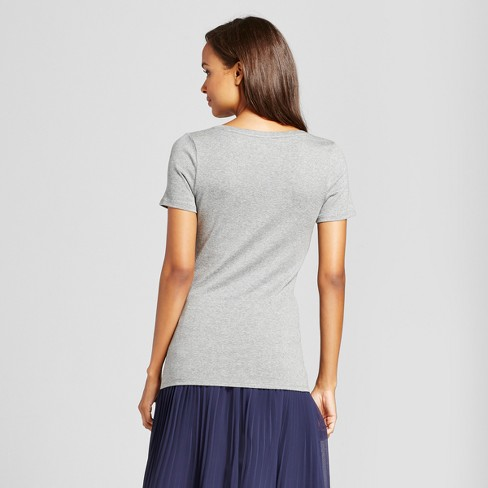 f61eeac251f Women s Fitted Short Sleeve V-Neck T-Shirt - A New Day™   Target