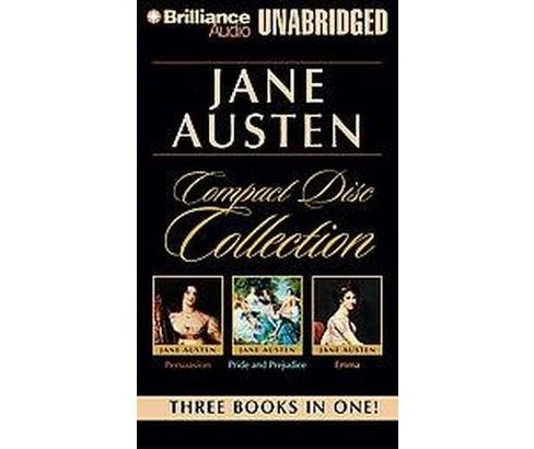Jane Austen Compact Disc Collection : Persuasion/Pride and Prejudice/Emma (Unabridged) (CD/Spoken Word) - image 1 of 1