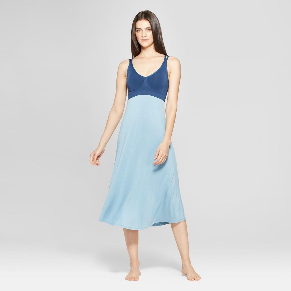 Women's Total Comfort Seamless Sleep Chemises Blue XS