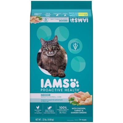IAMS Proactive Health Indoor Weight & Hairball Care Dry Cat Food 22lbs
