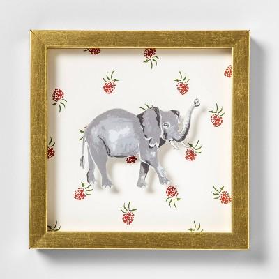 7.75 x9  Elephant Shadowbox Framed Wall Poster Print - Opalhouse™