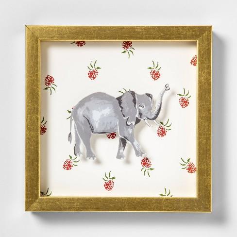 "7.75""x9"" Elephant Shadowbox Framed Wall Poster Print - Opalhouse™ - image 1 of 4"