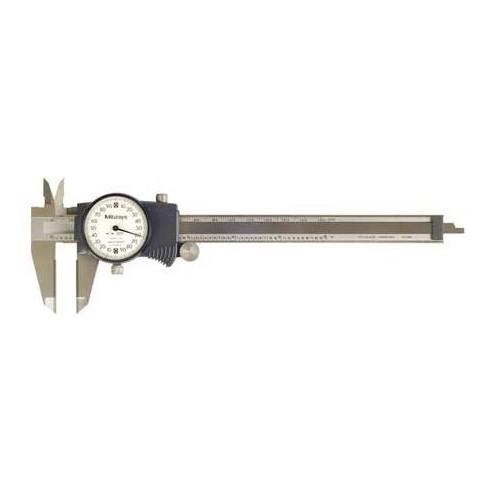 MITUTOYO 505-744 Dial Caliper,6In,0.200/Rev,Carbide - image 1 of 1