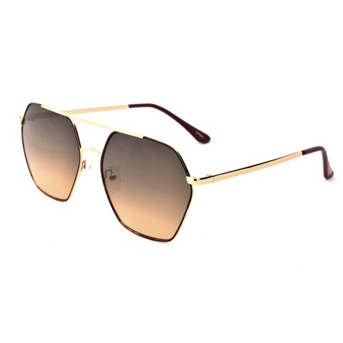 75a0980d16 Women s Two Tone Smoke Sunglasses - A New Day™ Bright Gold   Target