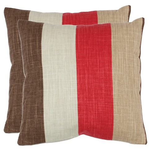 "Red Corey S/2 Throw Pillow (18""x18"") - Safavieh® - image 1 of 2"