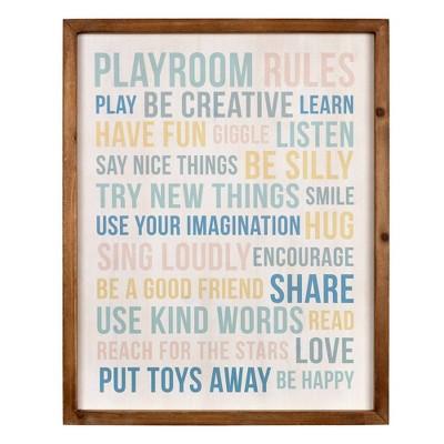 Playroom Rules Wall Art - Stratton Home Décor