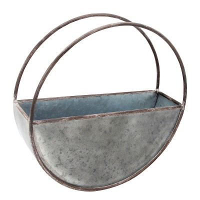 Round Metal Wall Planter - Foreside Home & Garden