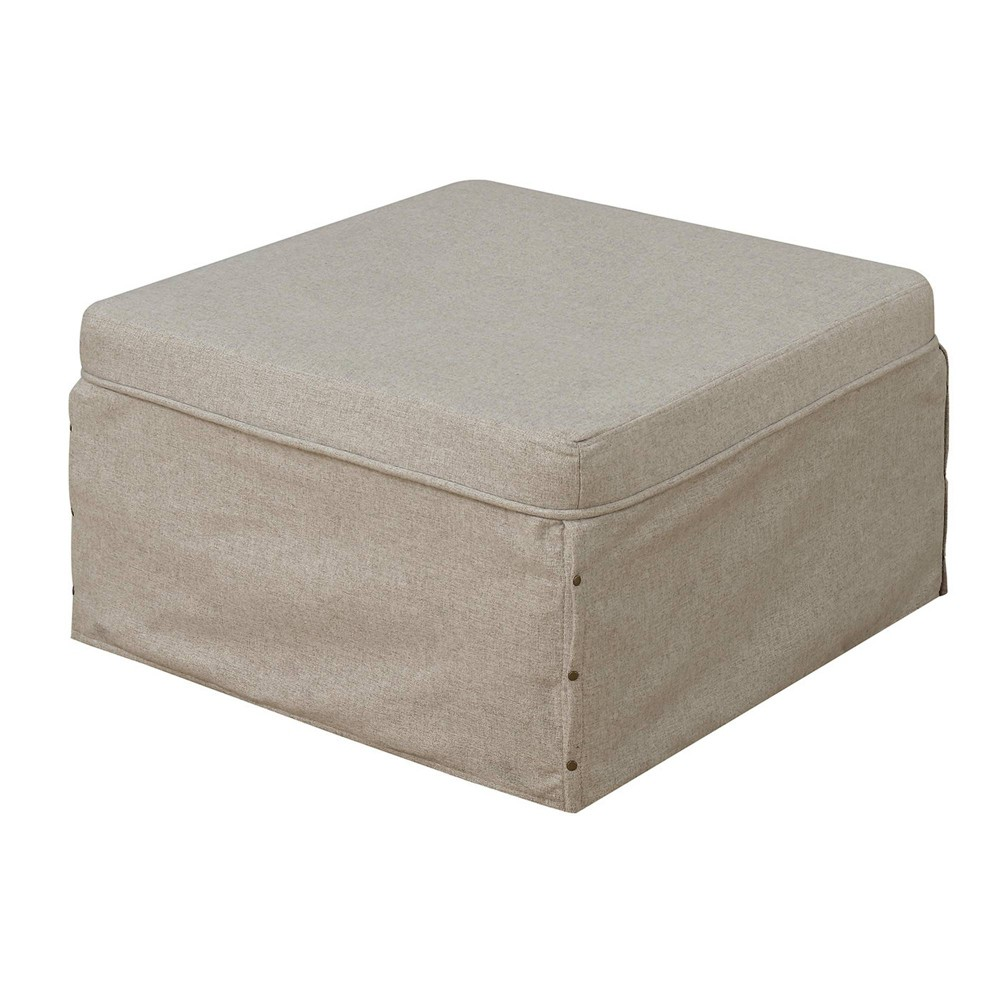 Designs4Comfort Folding Bed Ottoman Beige - Johar Furniture