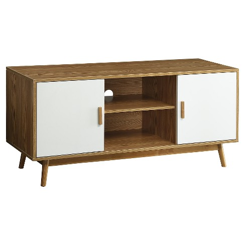Oslo Tv Stand White Convenience Concepts Target