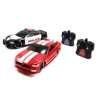 HyperChargers 1:16 Heat Chase Twin Pack R/C - 2017 Ford GT & 2015 Dodge Charger SRT Hellcat