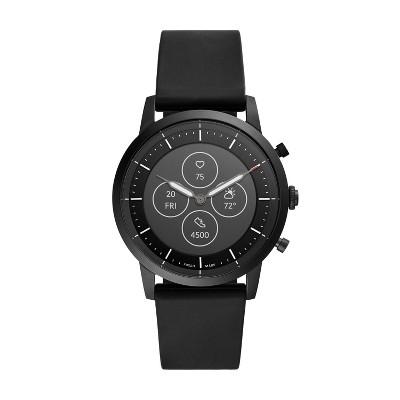 Fossil Hybrid Smartwatch HR Collider 42mm - Black with Black Silicone
