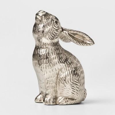 Decorative Rabbit Figurine - Silver - Threshold™
