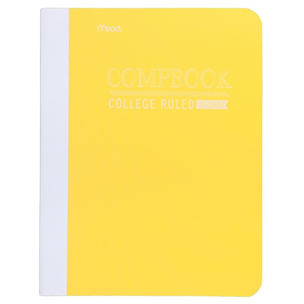 Image of Mead College Ruled Solid Composition Notebook - Yellow