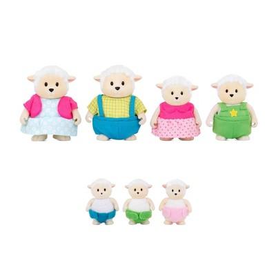 Li'l Woodzeez Miniature Animal Figurine Set - Curlycuddles Sheep Family
