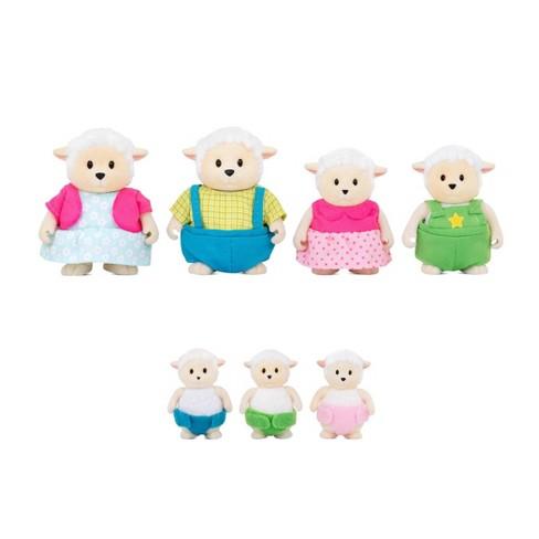 Li'l Woodzeez Miniature Animal Figurine Set - Curlycuddles Sheep Family - image 1 of 4
