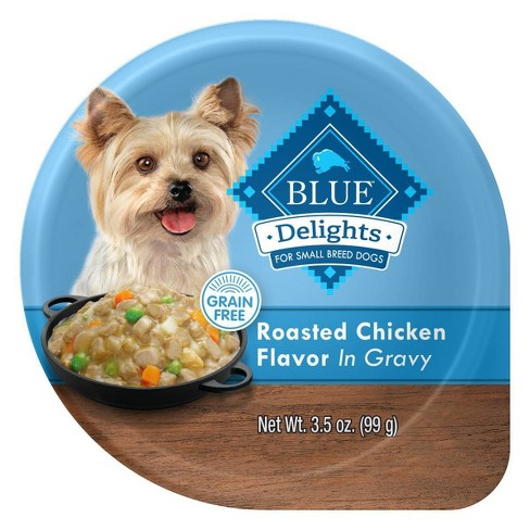 Blue Buffalo Divine Delights Rotisserie Chicken Cuts in Gravy Wet Dog Food - 3.5oz - image 1 of 4