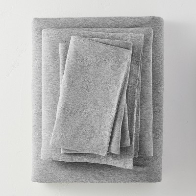 King Jersey Solid Sheet Set Light Gray - Casaluna™
