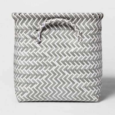 "Cube Storage Bin White And Gray 13"" - Room Essentials™"