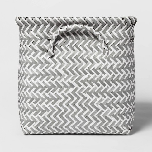 "Cube Storage Bin White 11"" - Room Essentials™ - image 1 of 4"