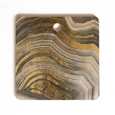 Marta Barragan Camarasa Abstract Paint Modern Square Cutting Board - Deny Designs
