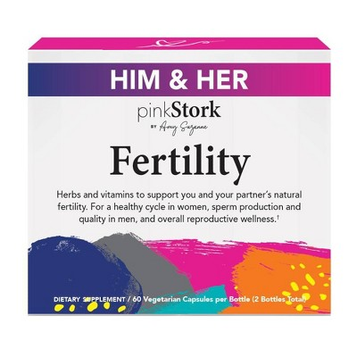 Pink Stork His & Hers Fertility Capsules - 120ct