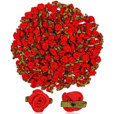 """Bright Creations 200-Pack Mini Artificial Red Rose Flower for Gift Wrapping, for Arts and Crafts, Home Decor, 1"""""""
