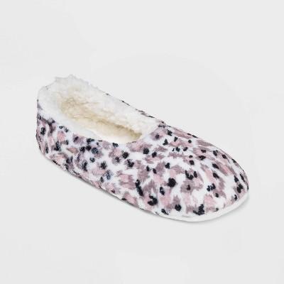 Women's Animal Cozy Pull-On Slipper Socks - Ivory