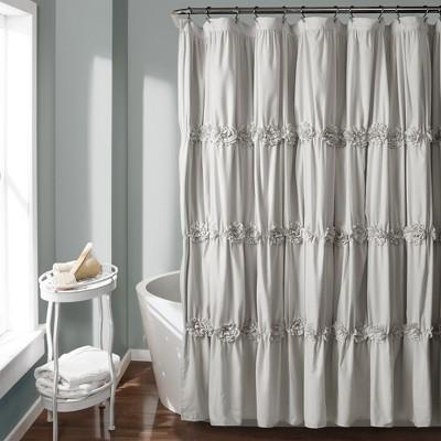 Darla Texture Shower Curtain Light Gray - Lush Décor