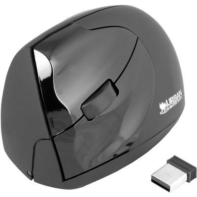 Urban Factory Ergonomic Wireless Laser Mouse 4 Buttons 2.4 GHz, Black/Gray (EML20UF)